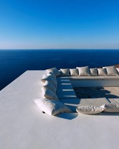 Amazing roof deck in Antiparos, overlooking the Aegean Sea