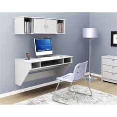@Overstock - Optimize your space with Prepac's White Floating Desk. Perfectly suited for any home office, den, living room, kitchen or entryway, this stable desk is ideal for any computer or simply use it as a place to get your work done.http://www.overstock.com/Home-Garden/Prepac-SOHO-White-Floating-Desk/7327331/product.html?CID=214117 $177.99