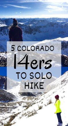 The safest and best Colorado to summit as a solo hiker. Add these awesome in the Rocky Mountains to your bucket list this summer! 14ers In Colorado, Visit Colorado, State Of Colorado, Colorado Hiking, Colorado Mountains, Rocky Mountains, Pikes Peak, Winter Hiking, Beautiful Park