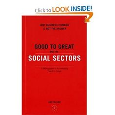 Collins provides a rigorous analysis of how to apply business performance principles to the nonprofit sector of the economy. In these social sector organizations, in which the objectives are not primarily monetary, superior results depend on attracting talent and money and creating the brand momentum these agencies need to create the social good they intend.