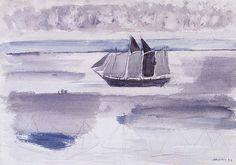 John Marin - Four-Master off the Cape—Maine Coast, No. 1