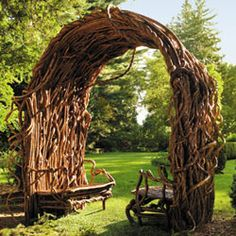 A WoW arbor -- letting the material dictate the structure