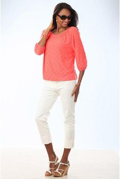 #BFCM #CyberMonday #Long Tall Sally US - #Long Elegant Legs Tall LEL Essential Capris at Long Tall Sally - AdoreWe.com