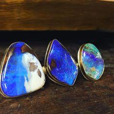New opals #oneofakind #handmadeinseattle #jjpowerring