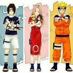 Anime: Naruto Personagens: Uchiha Sasuke, Haruno Sakura e Uzumaki Naruto – Uzumaki Naruto Naruto Uzumaki Shippuden, Sasuke Uchiha, Anime Naruto, Naruto Comic, Hinata Hyuga, Naruto Cute, Naruto Team 7, Naruto Family, Sakura Haruno
