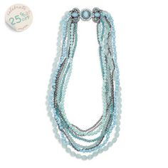 Shoreside Layered Long Necklace $111 until Sunday at midnight. #chloeandisabel #mothersday