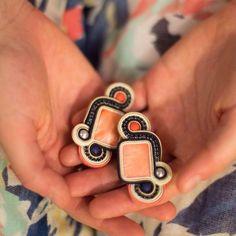 Soutache Necklace, Tassel Earrings, Ring Earrings, Pearl Earrings, Boho Jewelry, Jewelery, Handmade Jewelry, Shibori, Beaded Embroidery