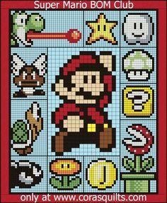 Super Mario Brothers Quilt Along & BOM - Block 10:  Bullet Bill