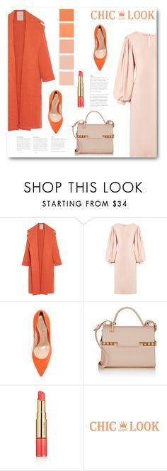 """Без названия #7206"" by bliznec ❤ liked on Polyvore featuring Roksanda, Osman, Gianvito Rossi, Delvaux and Estée Lauder"