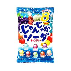 LION Janjyaka Noisy 8-Flavor Soda Hard Candy - 112g. Who would have thought candy can be this noisy:-) Flavours include: Coca Cola, Ramune, Orange, Apple, Peach, Melon, Grape and Lemon. Best seller in Japan.  Producer: Lion Production: Made in Japan Amount: 112g Delivery: Directly from the birthplace of ramune - Japan