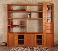 Libreros en Madera de Lenga Lenga Wood Bookcase
