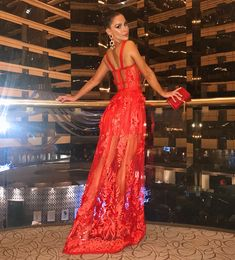 Adyce Summer Women Bandage Dress 2019 New Arrivals Red Lace Sleeveless Spaghetti Strap Maxi Dress Celebrity Party Dress Vestidos - Sanki Fanki - Trending Fashion Designs Elegant Dresses, Sexy Dresses, Beautiful Dresses, Evening Dresses, Fashion Dresses, Prom Dresses, 1950s Dresses, Lace Dresses, Flower Dresses