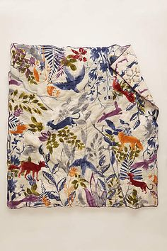 This has an awesome reverse side and pillows as well. Creature Hideaway Quilt - anthropologie.com