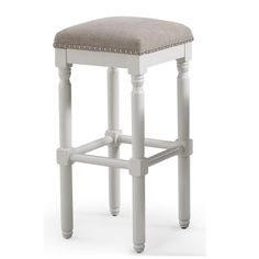 Noble House Avondale 30 in. Beige Backless Bar Stool (Set of 6423 - The Home Depot White Bar Stools, Cool Bar Stools, Island Stools, Counter Stools, Furniture Dolly, Furniture Ideas, Kitchen Furniture, Dining Stools, Backless Bar Stools