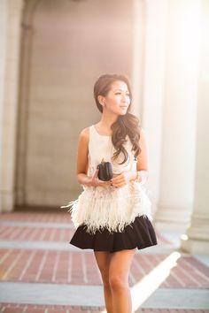 New Year's Eve :: Feathered fringe blouse