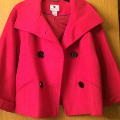 Jacket size medium Beautiful color pink jacket in size medium Worthington Jackets & Coats Pea Coats