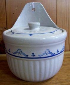 Pittsburg Stoneware Crocks Value | Western Stoneware Illinois Blue White Colonial Salt Cellar Crock 329
