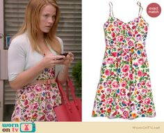 Daphne's floral dress with mint shrug cardigan on Switched at Birth Katie Leclerc, Switched At Birth, Shrug Cardigan, Swimwear Fashion, Modcloth, Fashion Forward, Floral Prints, Cute Outfits, Budget