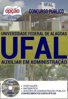 Apostila - AUXILIAR EM ADMINISTRAÇÃO - Universidade Federal de Alagoas (UFAL)
