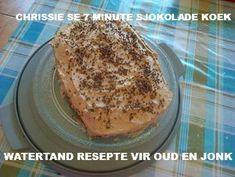 SJOKOLADE KOEKE Flan Cake, South African Recipes, Delicious Desserts, French Toast, Sweet Treats, Deserts, Chocolate Cakes, Baking, Bakken