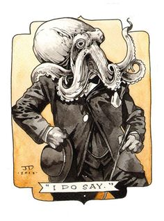 Discovered by Steampunk Tendencies. Find images and videos about illustration, artwork and steampunk on We Heart It - the app to get lost in what you love. Cthulhu, Kraken, Illustrations, Illustration Art, Sunless Sea, Steampunk Theme, Octopus Art, Octopus Drawing, 1 Tattoo