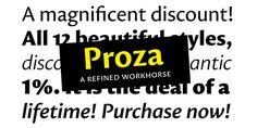 Proza (50% discount, from 0€) - http://fontsdiscounts.com/proza-50-discount-0e/