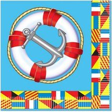 Nautical Party Lunch Napkins