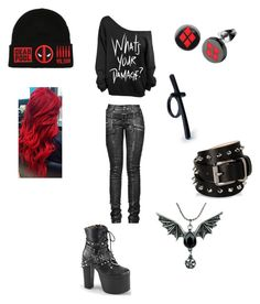"""""""I like"""" by mandyboo21 on Polyvore featuring Marvel, Demonia, Forever 21 and Barbara Bui"""