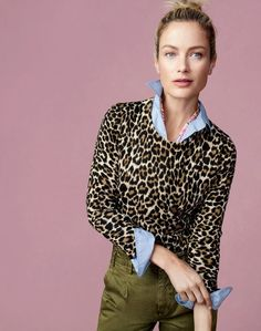 undefined The J.Crew women's Tippi sweater. A customer favorite since To pre-order, call 800 261 7422 or email verypersonalstyli…. Leopard Print Outfits, Leopard Sweater, Animal Print Outfits, Leopard Top, Animal Prints, J Crew Style, My Style, Jeans Petite, Winter Outfits