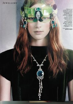 HUMPHREY BUTLER DIAMOND BROOCH AND EARRINGS ~ TATLER, SEPTEMBER ISSUE 2013 @tatleruk