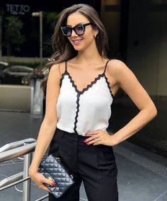 Casual Winter Outfits, New Outfits, Summer Outfits, Fashion Outfits, Fashion Trends, Couture Tops, Beautiful Blouses, Trendy Tops, Summer Shirts