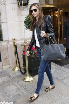 Even in the most laid-back outfit, Miranda exuded cool in a black | Miranda Kerr Has an Outfit For Just About Everything