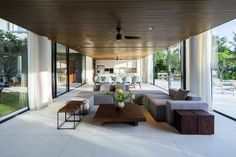 Sweeping pavilion style living areas with ample natural ventilation