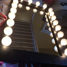 https://flic.kr/p/thUjGD | Sashanna's Black Galaxy Space Saver Lighted Vanity Mirror | Mirror Made By: WoodUBeMine Mirror Shop Thank You For Sharing With Us!