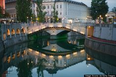 ljubljana, slovenia. (ljubljana may be the prettiest city you haven't been to yet. The capital city of Slovenia boasts a blend of cultures, including German, Slovenian and Mediterranean. A medieval castle hovers over Ljubljana, just outside the city center)
