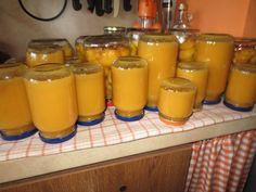 BROSKVOVÁ PŘESNÍDÁVKA 2,5 kg oloupaných a vypeckovaných broskví 1/4 kg cukru 1 vanilkový cukr 2 vanilkový pudinky 1,5 L kojenecké vody Pokrájené broskve na kousky zalijeme 1 L vody a vaříme 30 min..Pak přidáme cukr a rozmíchaný pudinky v 0,5 L vody a vaříme ještě 10 minut -mícháme. Dáme do skleniček a zavaříme. Food And Drink, Pudding, Drinks, Recipes, Drinking, Beverages, Custard Pudding, Recipies, Puddings