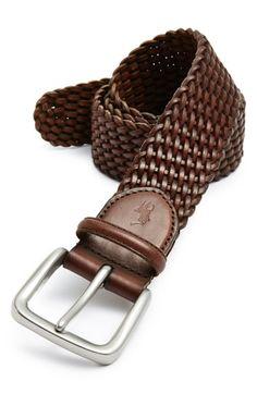 POLO RALPH LAUREN Braided Leather Belt. #poloralphlauren #