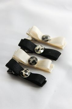 Animal Print Hair Clip Set of Four  Made from by BabyGeneration, $4.00