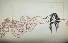 Sketch by Lucas Werneck The octo style mermaid tail is a cool concept. Pin Up Mermaid, Mermaid Art, Mermaid Pinup, Octopus Mermaid, Mermaid Sketch, Mermaid Pose, Mermaid Tail Drawing, Mermaid Tails, Fantasy Kunst