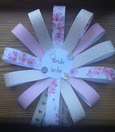 Bride to be Badge Rosette Hen do by AmysOccasionalCrafts on Etsy