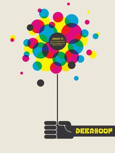 deer-hoof gig poster. love the blog I'm pinning these from, really nice.