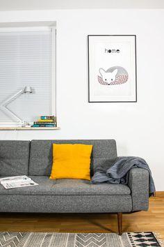 Cartel Retro zorro zorra animales del bosque estilo por EmuDesigns
