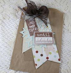 Do Not Open Tag - Holiday Treat Bag / Christmas Treat Bag