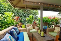 tropical patio by Natalie Younger Interior Design, Allied ASID