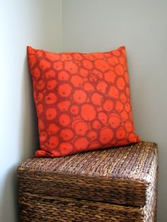 SPICE hand dyed silk pillow cover. $55.00, via Etsy.