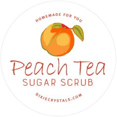 Peach Tea Sugar Scrub Labels-This free, downloadable Peach Tea Sugar Scrub label is perfect when you want to give your homemade creation as a gift.
