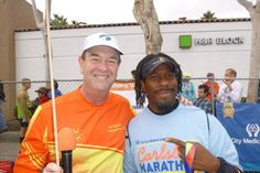 Carlsbad Half Marathon! Chillin' with @Joseph Taricani of 'THE MARATHON SHOW'!! ...check him out~> www.blogtalkradio.com/themarathonshow @themarathonshow