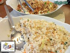 Sinangag Recipe is the Filipino version of Fried Rice only containing garlic and is often a breakfast fixture. Sinangag is often part of the Si-Log meal such as TapSiLog, LongSiLog, HotSiLog and more. Read more: www. Filipino Rice Recipe, Filipino Food, Filipino Recipes, Garlic Fried Rice, Philippine Cuisine, Pinoy, Rice Recipes, Portal