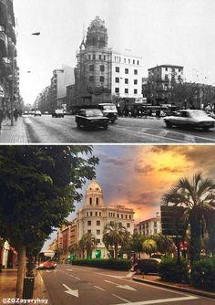 Plaza del Portillo, año 1970-2015.