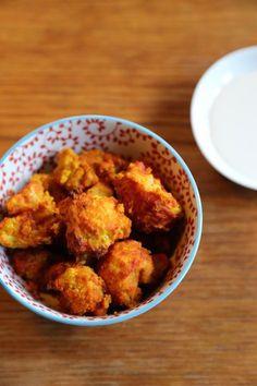 Chou-fleur croustillant à la tomate et au curcuma